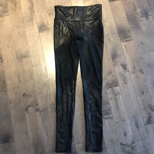 SPANX Faux Leather leggings tights